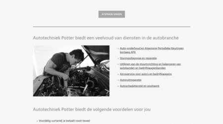 Autotechniek potter website
