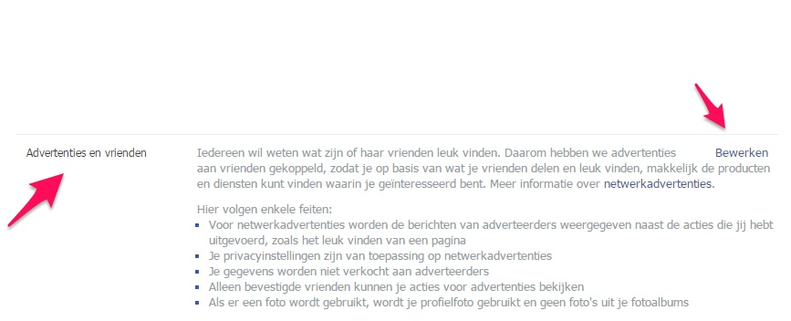 advertenties verbergen