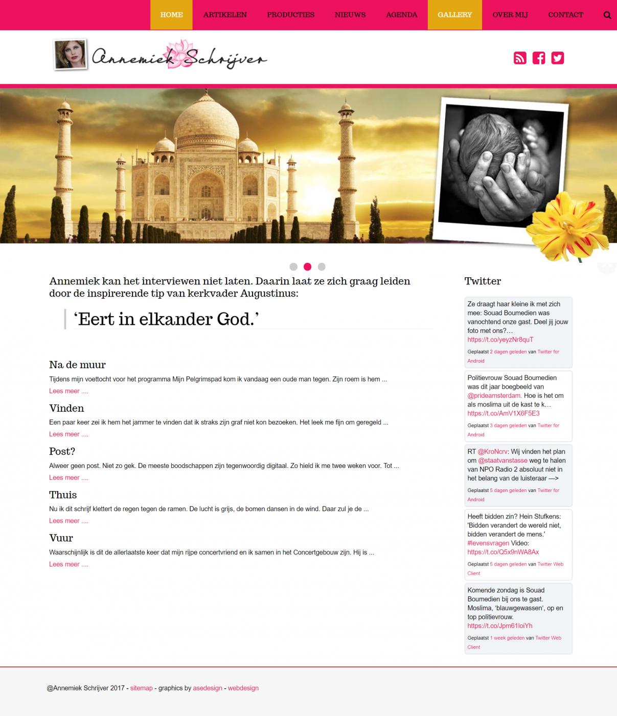 website Annemiek Schrijver