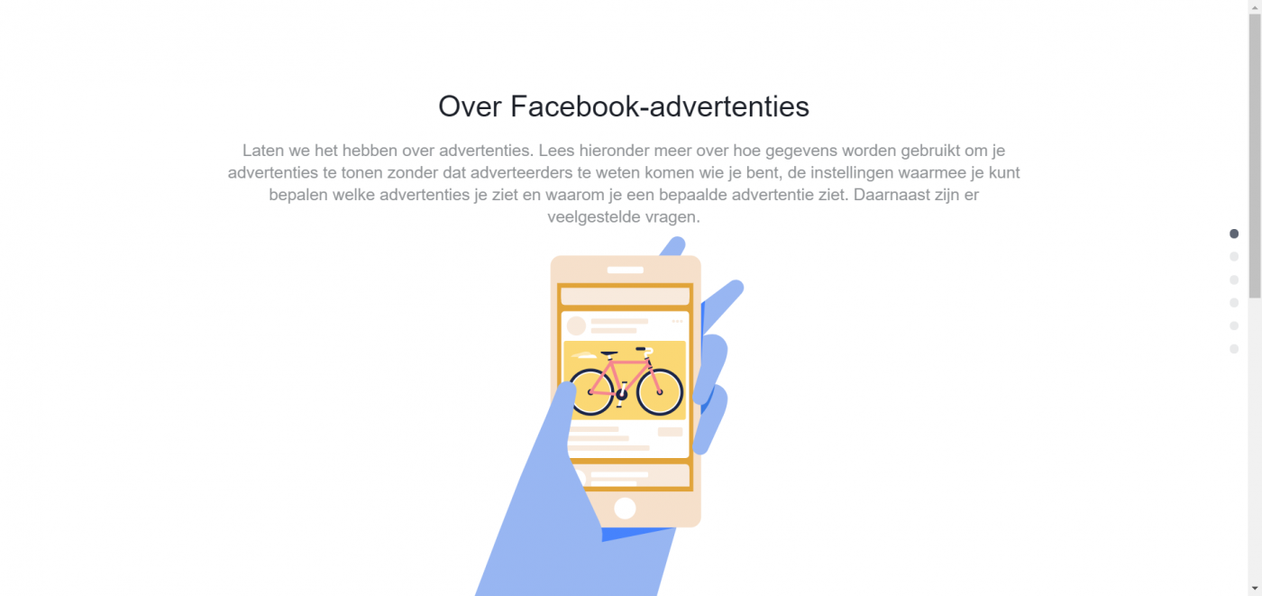Facebook advertenties privacy instellen